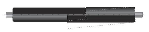 Tube de blocage pour vérin avec tige de 8mm